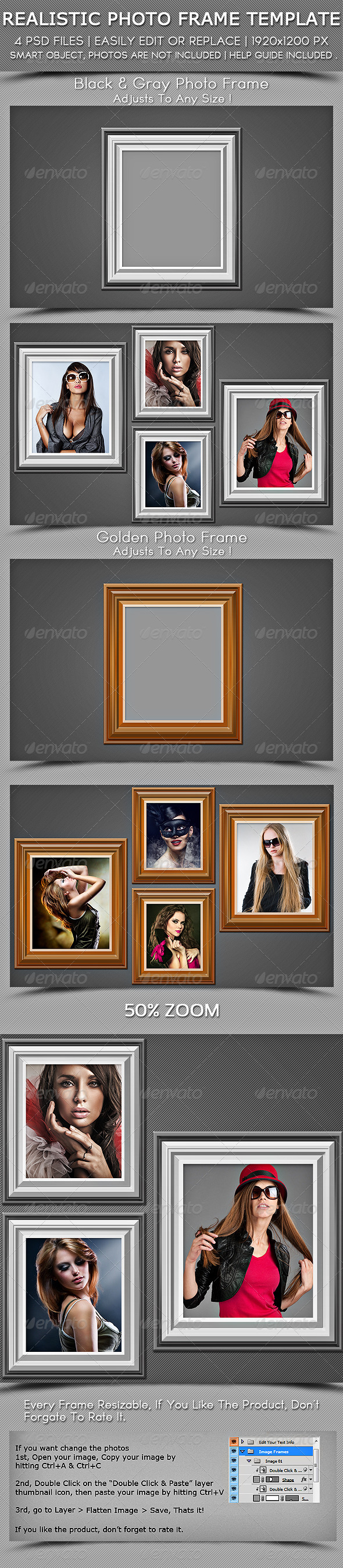 Realestic Photo Fram Template - Photo Templates Graphics