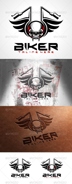 Biker Logo Template - Symbols Logo Templates