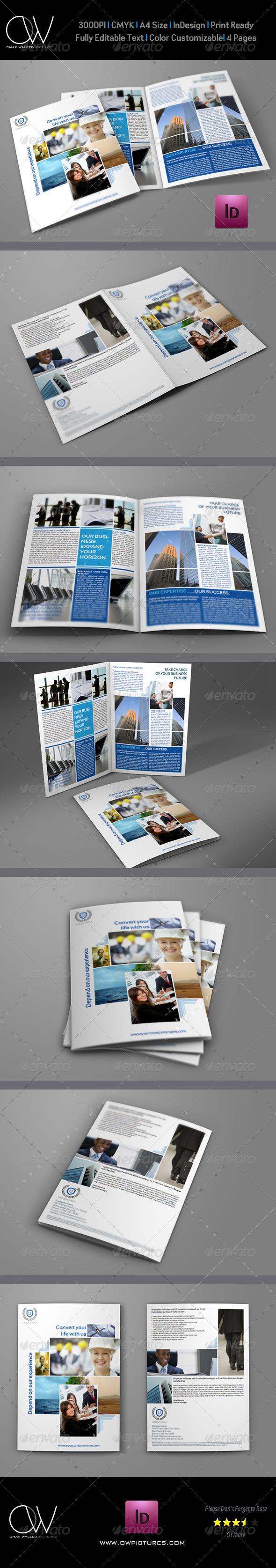 Company Brochure Bi-Fold Template Vol.4 - Corporate Brochures