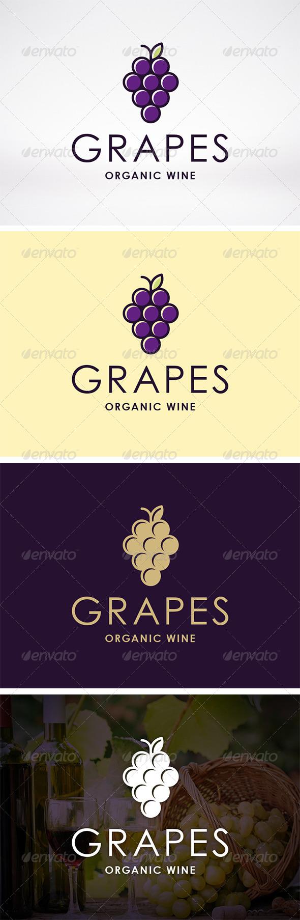 Wine Logo Template - Food Logo Templates