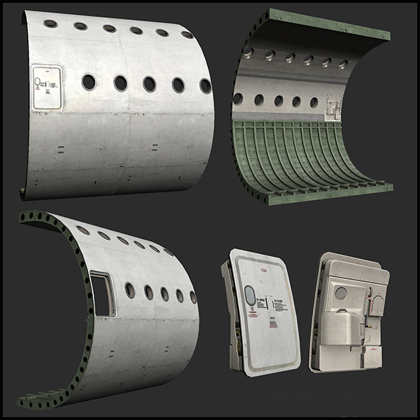 Airplane Hull - 3DOcean Item for Sale