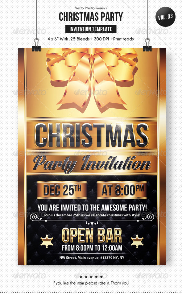Christmas Party - Invitation [Vol.3] - Invitations Cards & Invites