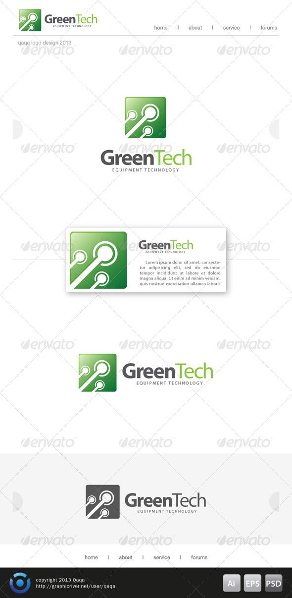 Green Tech Logo - Logo Templates