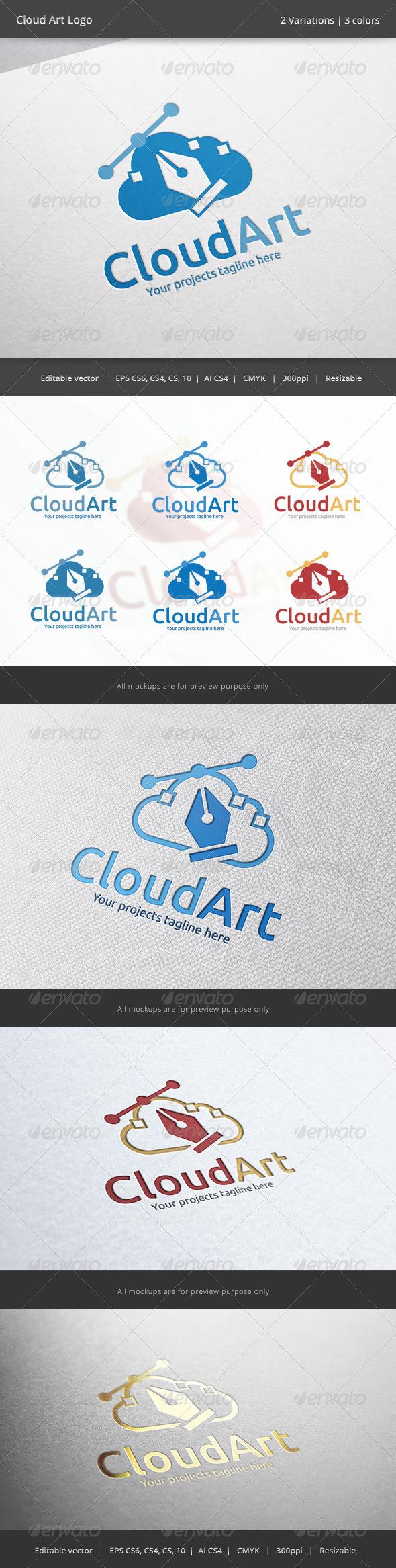 Cloud Art Logo - Objects Logo Templates