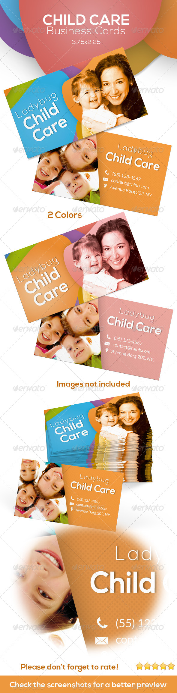 Child Care Business Cards by ingridk | GraphicRiver