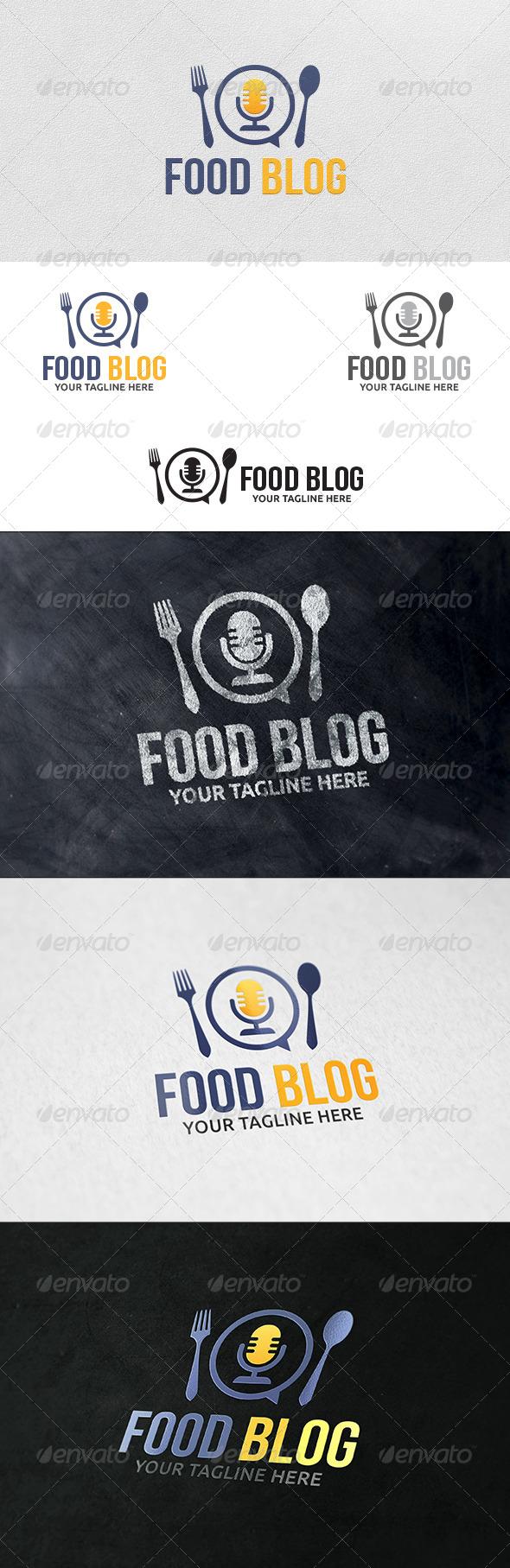 Food Blog - Logo Template - Food Logo Templates