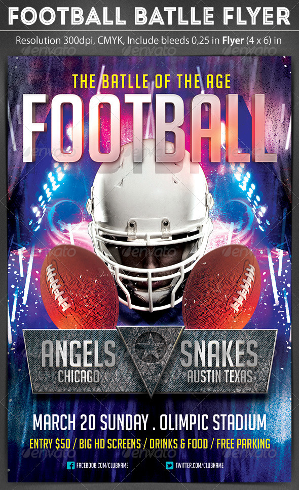 Football Battle Flyer - Sports Events