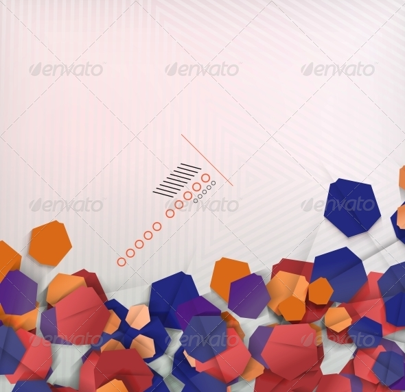 Abstract Geometric Shape Background - Abstract Conceptual