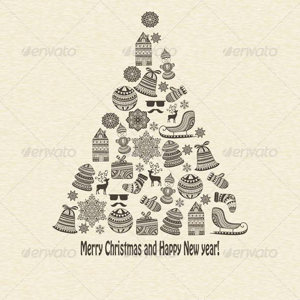 Vector Greeting Card - Seasons/Holidays Conceptual