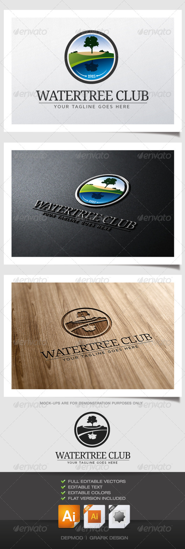 Watertree Club Logo - Nature Logo Templates
