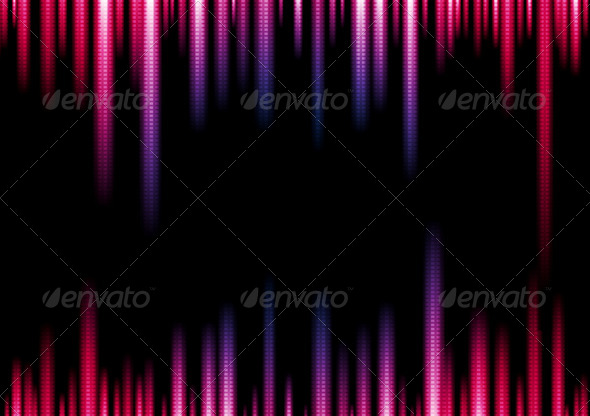 Vibrant Vector Lights Abstract Background - Abstract Conceptual
