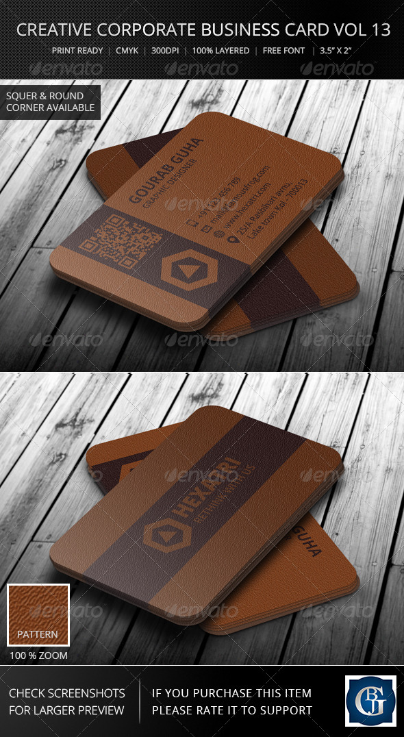 Creative Corporate Business Card Vol 13 - Corporate Business Cards
