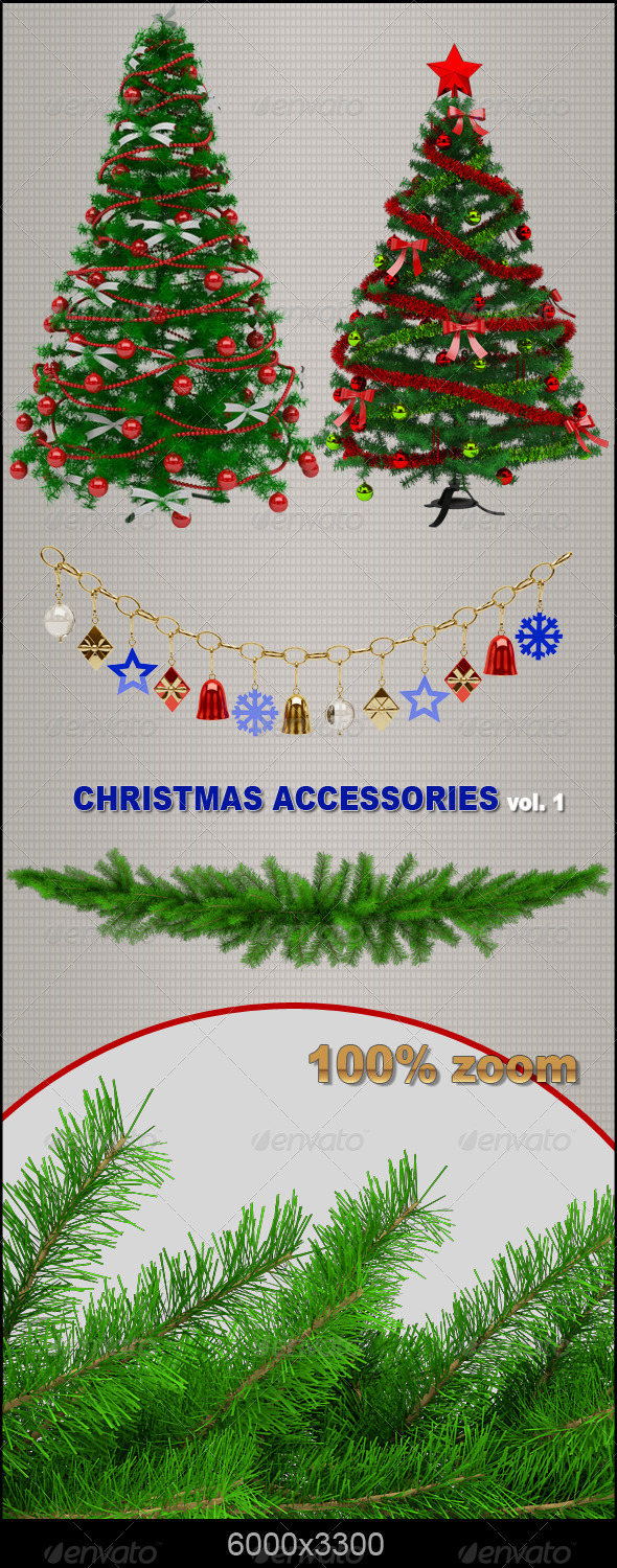 Christmas Accessories - Objects 3D Renders