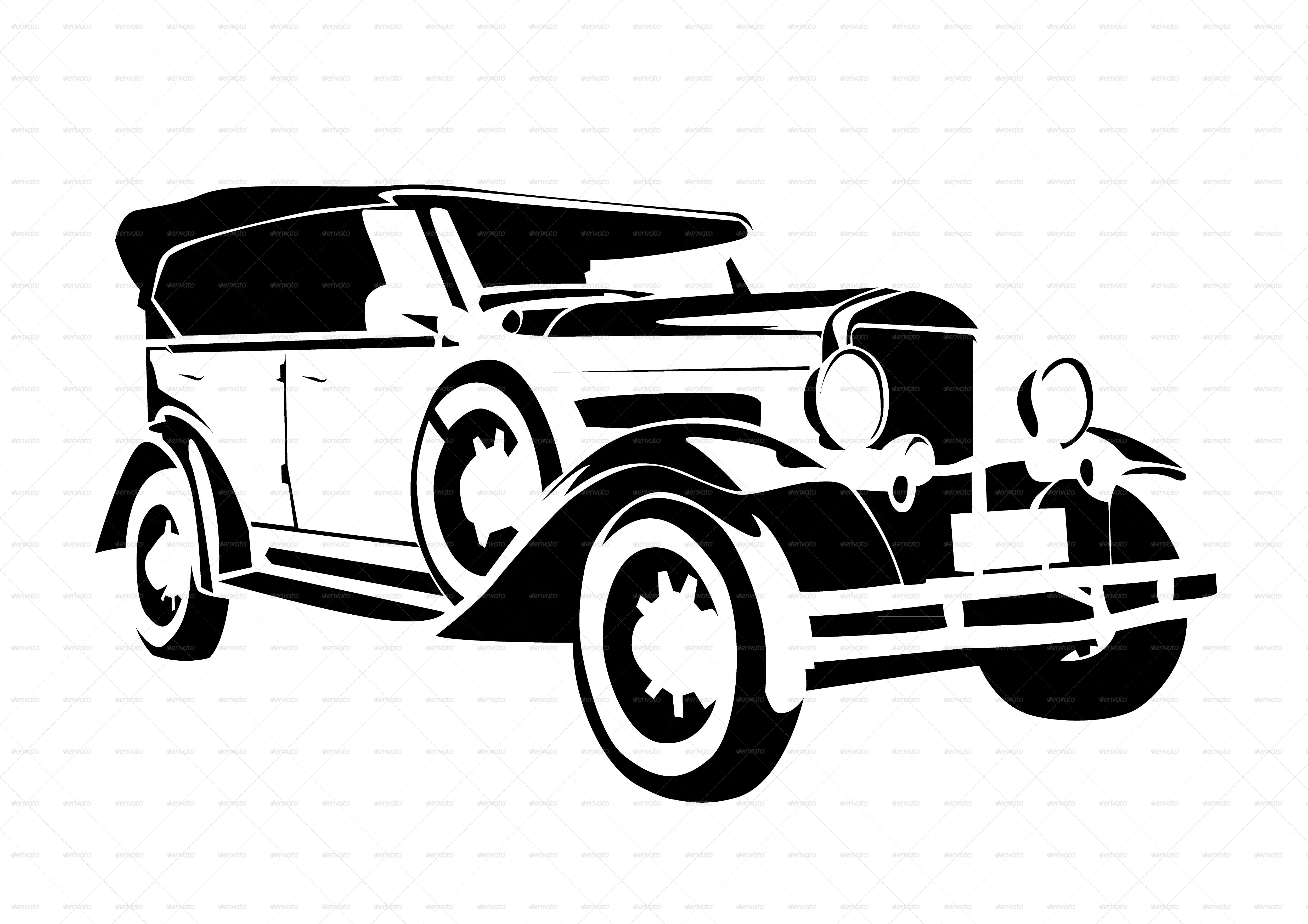 Old Vintage Cars Collection by raduborzea | GraphicRiver