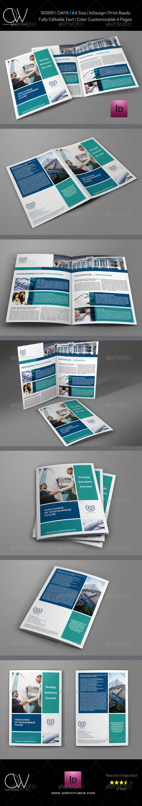 Company Brochure Bi-Fold Template Vol5 - Corporate Brochures