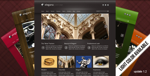 Elegana -  Clean and Elegant Website Template