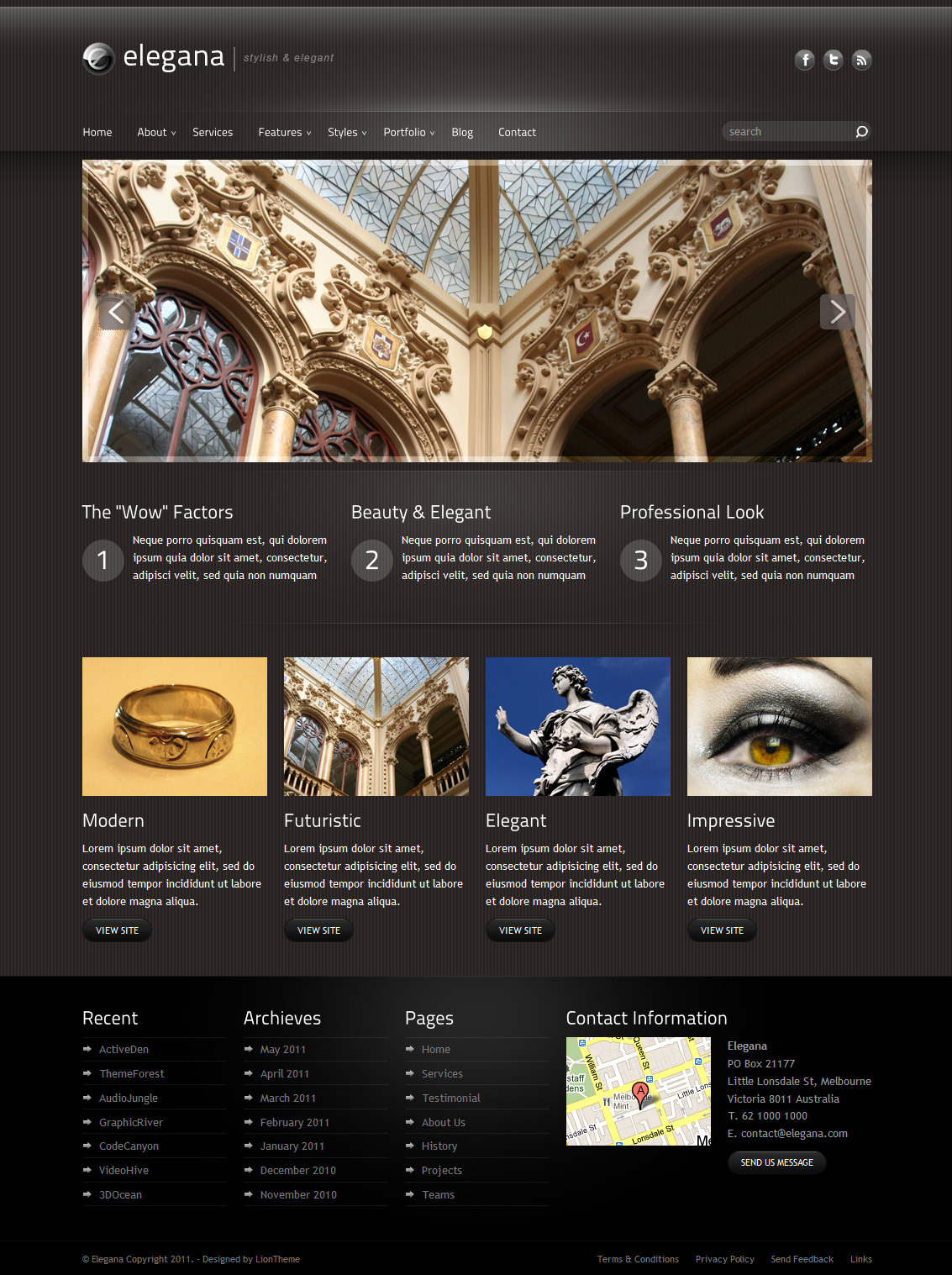 Elegana - Clean and Elegant Website Template by liontheme ...
