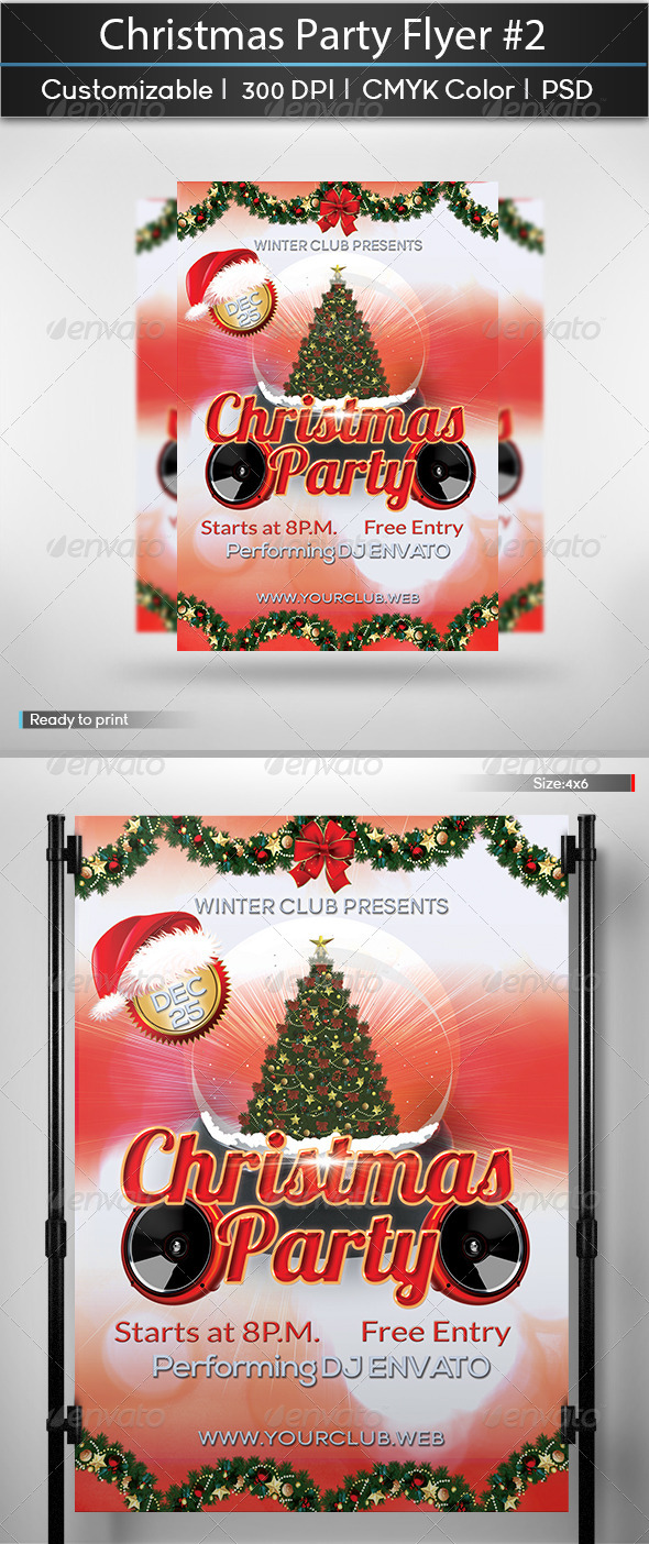 Christmas Party Flyer #2 - Holidays Events