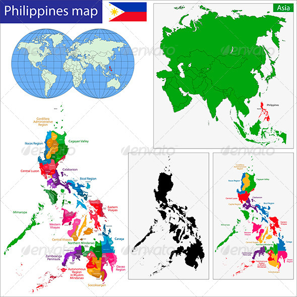 Philippines Map - Travel Conceptual