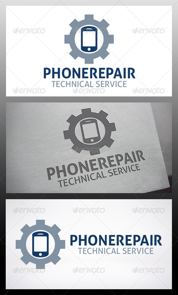 Phone Repair Logo - Objects Logo Templates