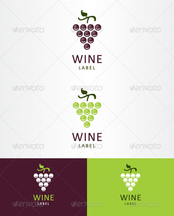 Wine Label - Food Logo Templates