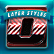 Racing Layer styles v1 - GraphicRiver Item for Sale