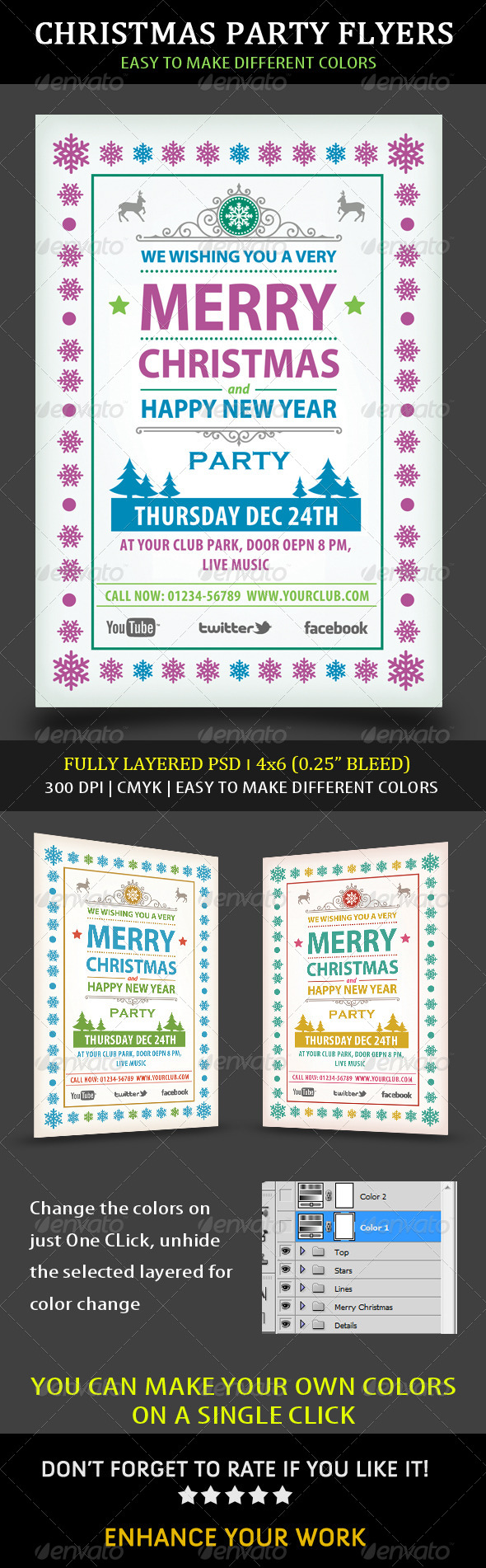 Christmas Party Flyers - Events Flyers