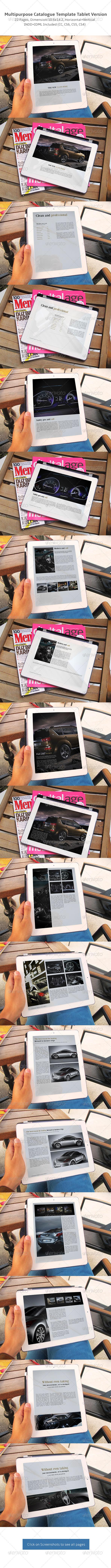 Multipurpose Catalogs Template Tablet Version - Digital Books ePublishing