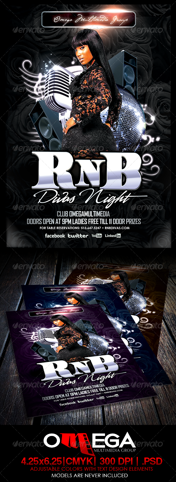 RnB Divas Night - Events Flyers