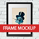 Photorealistic Frame Mockup - GraphicRiver Item for Sale