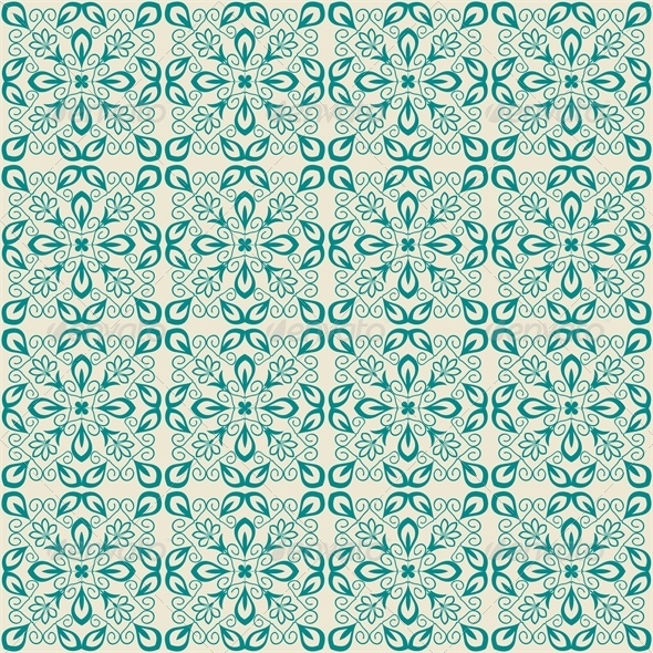 Blue Damask Pattern - Patterns Decorative