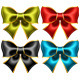 Set of Sixteen Holiday Bows with Gold Edging - GraphicRiver Item for Sale