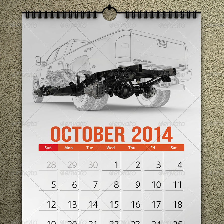 Calendar Mock Up Pack by akropol   GraphicRiver