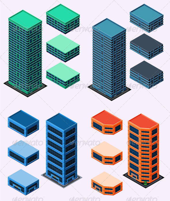 Isometric Building - Buildings Objects
