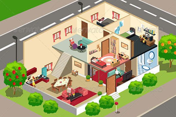 People at Home - Objects Vectors