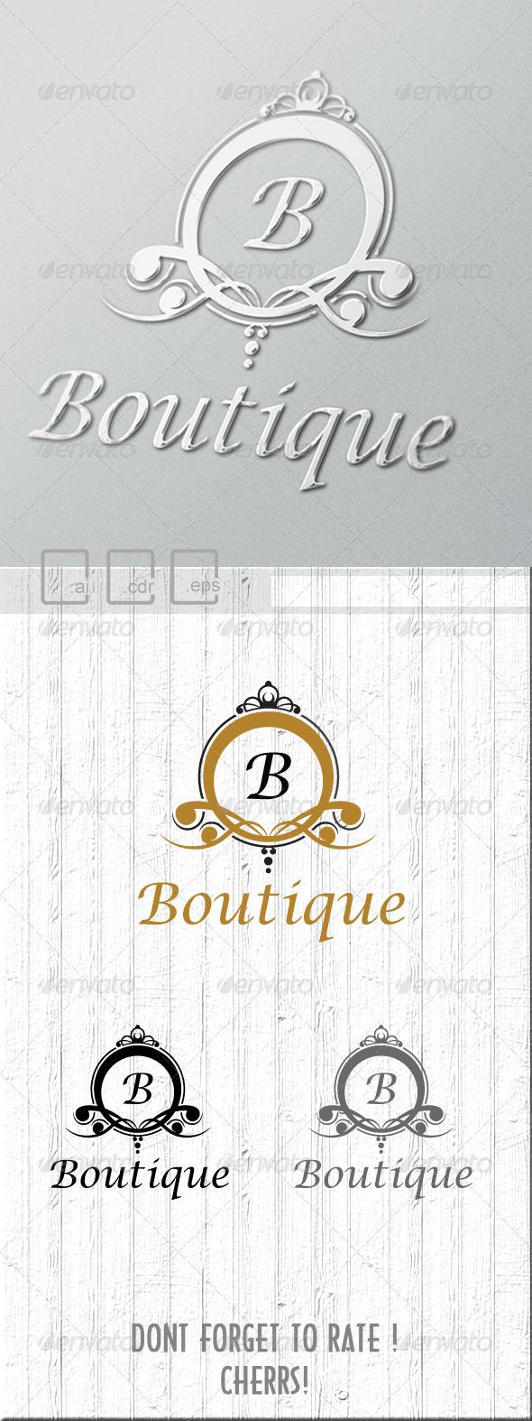 Boutique Logo - Crests Logo Templates