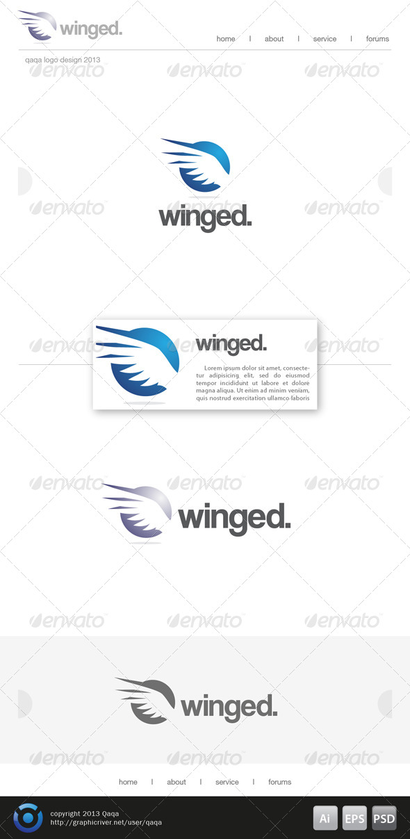 Wings Logo - 03 - Animals Logo Templates