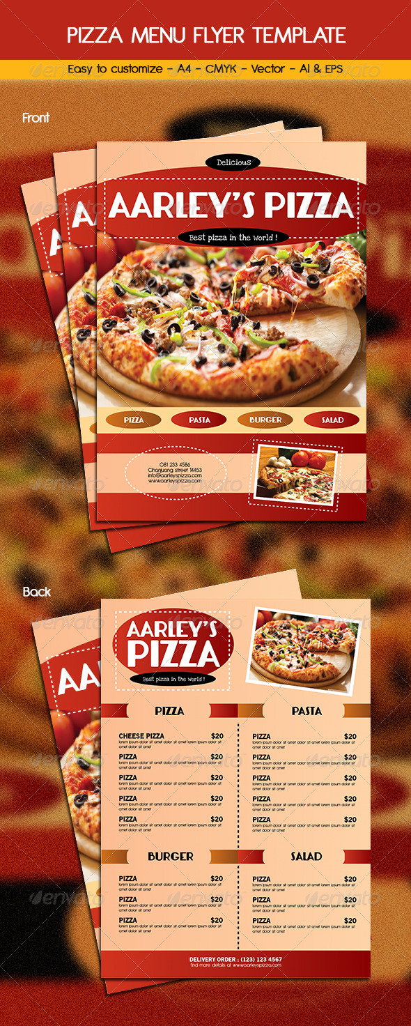Pizza Menu Template by arifpoernomo | GraphicRiver