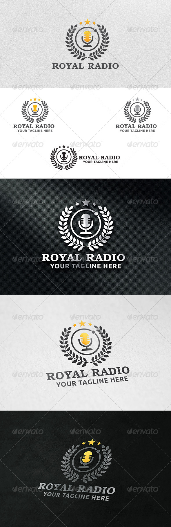 Royal Radio - Logo Template - Crests Logo Templates