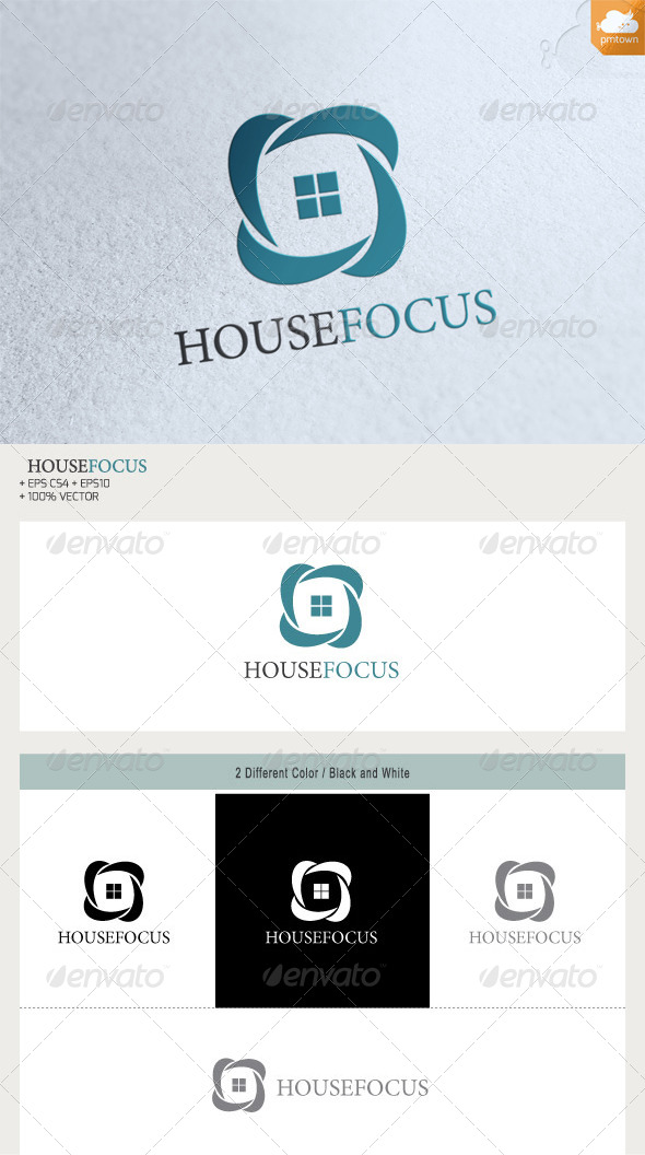 HouseFocus - Buildings Logo Templates