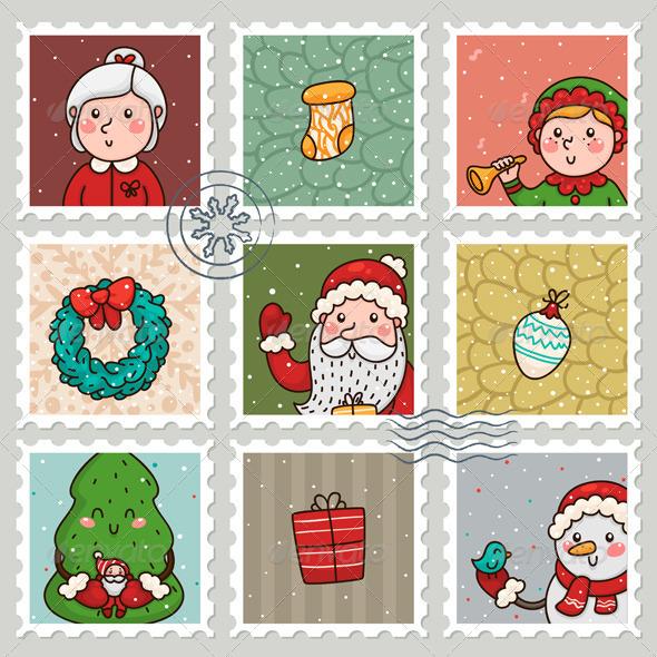 Christmas and New Years Stamps - Christmas Seasons/Holidays
