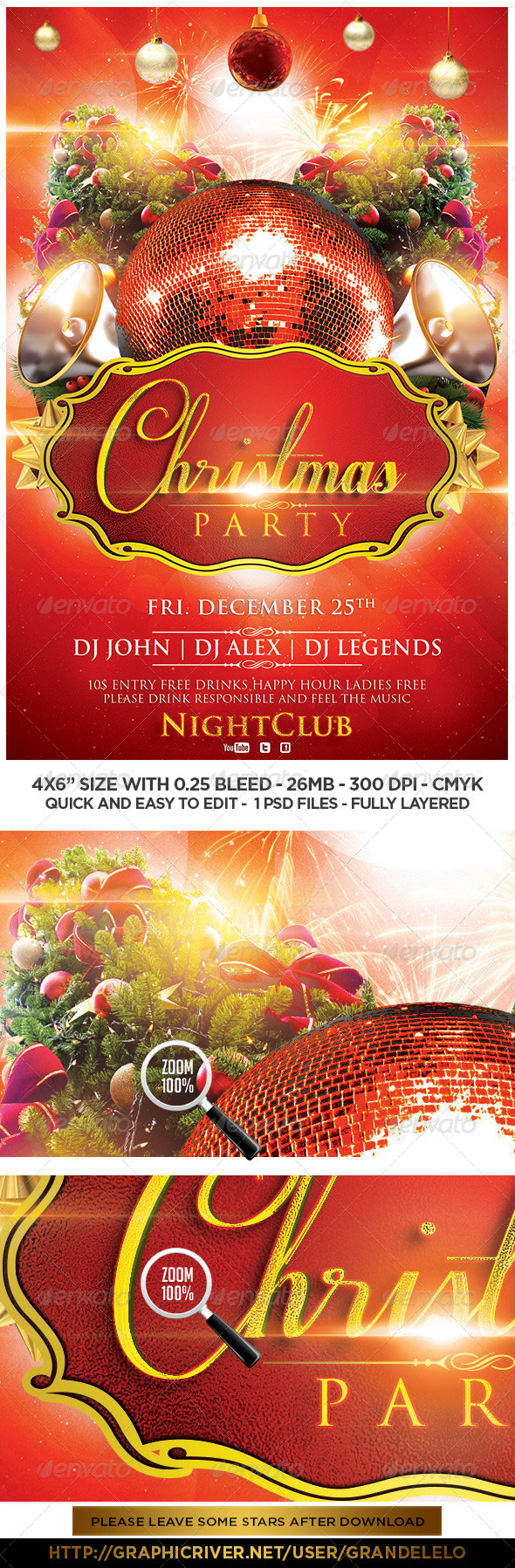 Christmas Flyer Template - Clubs & Parties Events