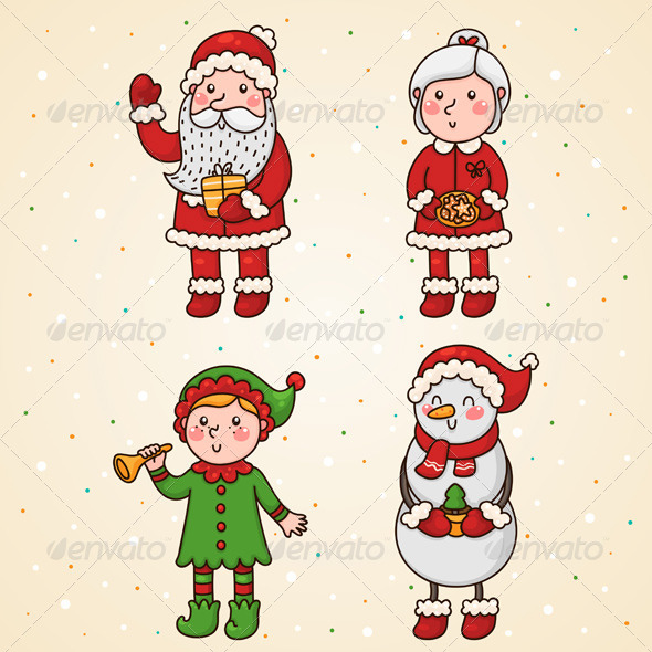 Christmas and New Year Characters - Christmas Seasons/Holidays