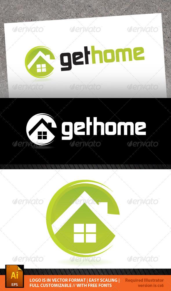 Get Home Logo Template - Buildings Logo Templates