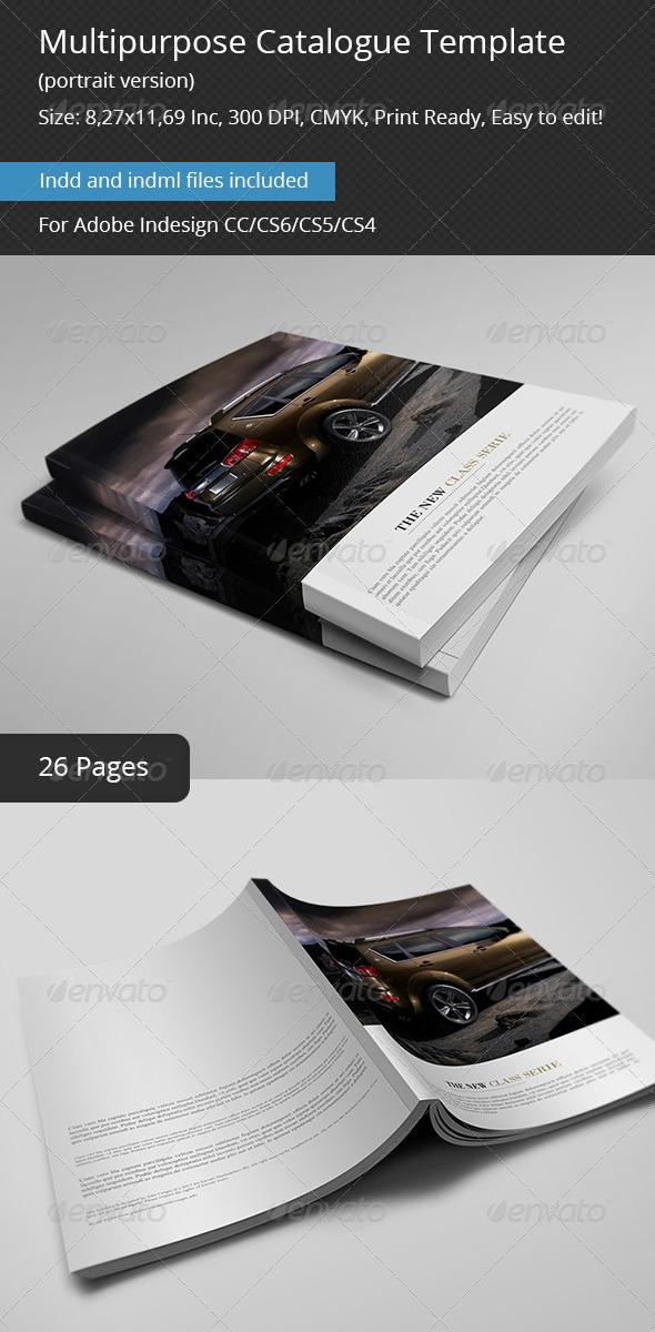 Multipurpose Catalogs Template Portrait Version - Catalogs Brochures