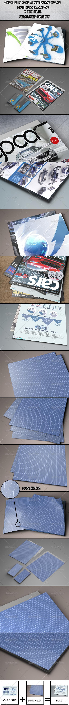 7 Realistic Paper/Poster  Mock-ups - Product Mock-Ups Graphics