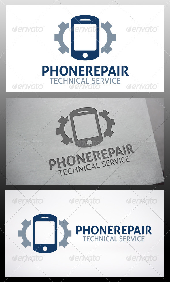 Mobile Repair Logo - Objects Logo Templates