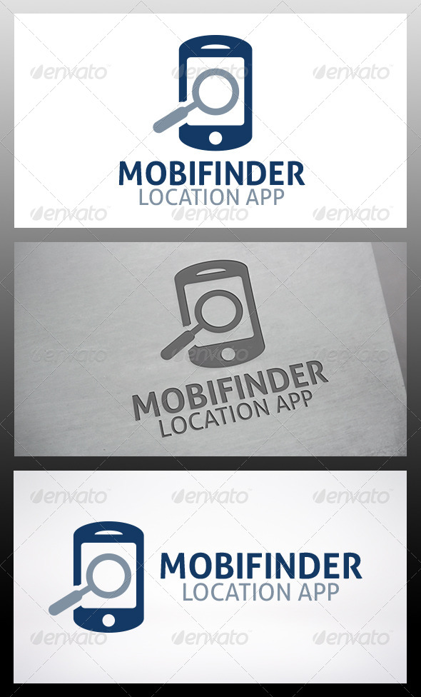 Phone Locator Logo - Objects Logo Templates
