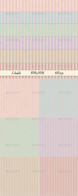 6 Striped Paper Textures - Paper Textures