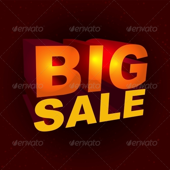 Sale Label in 3D Style - Retail Commercial / Shopping